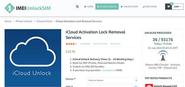 IMEI Unlock SIM to Remove the iCloud Lock