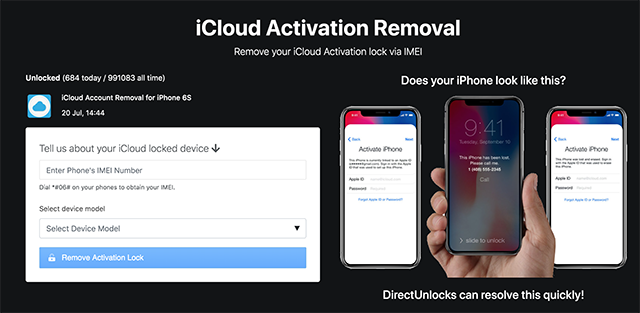 Direct Unlocks to Remove Activation Lock from iOS Devices