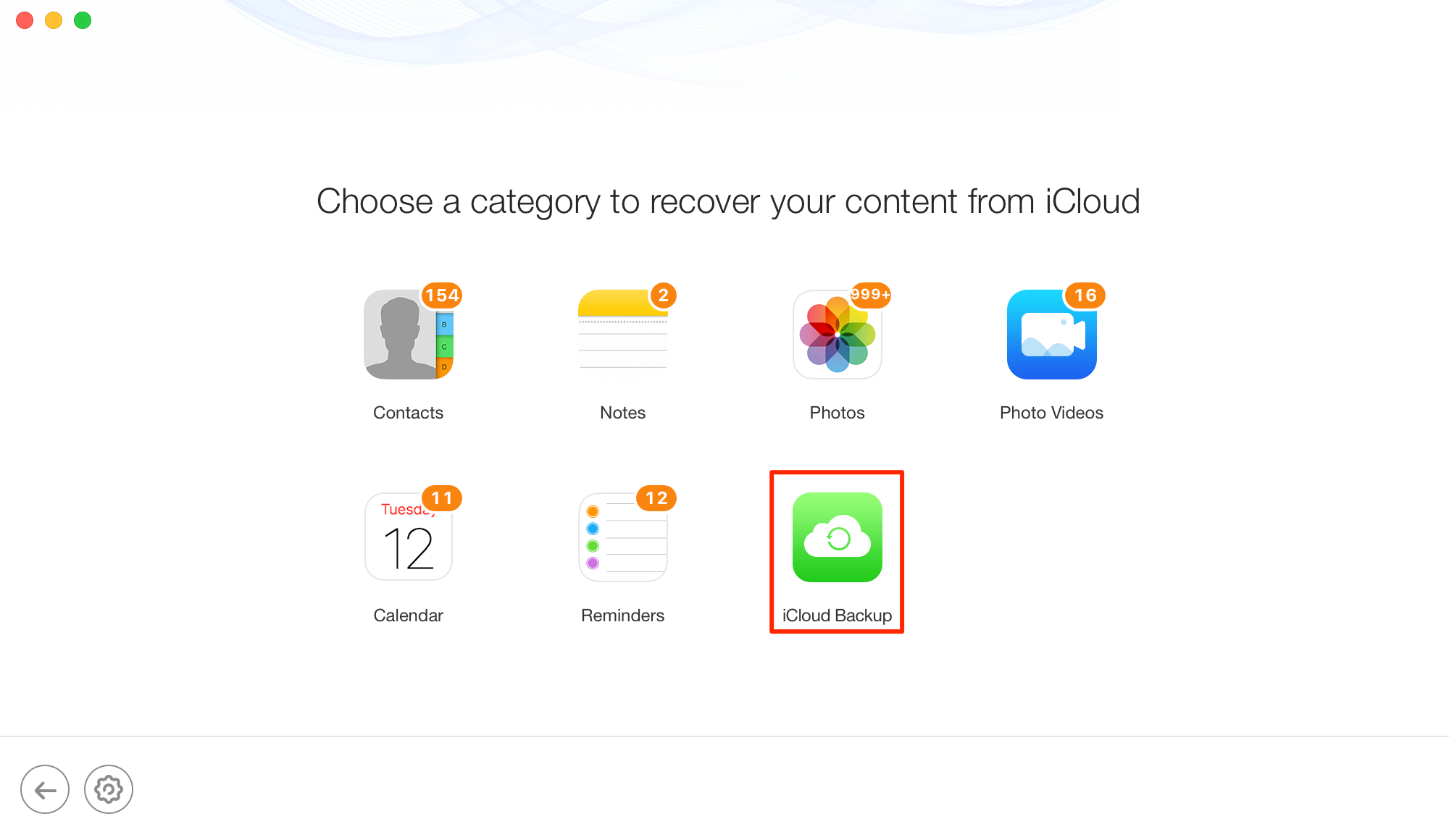 How to Restore Data from iCloud Backup - Step 3