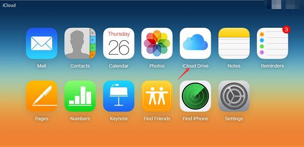Access iCloud Drive from iCloud.com