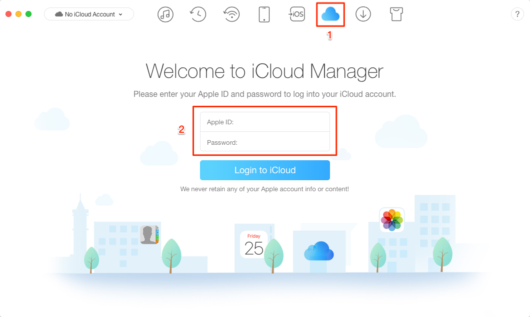 How to Fix iCloud Not Backing Up Photos with AnyTrans – Step 1