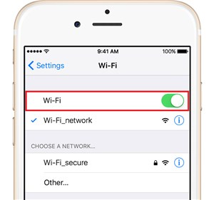 Check Wi-Fi or cellular network
