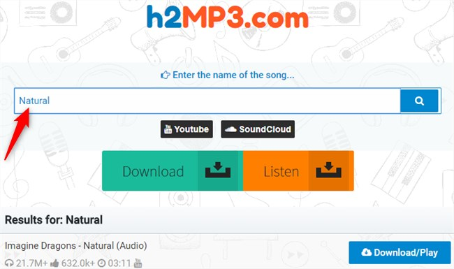 Free Download Natural MP3 to Computer - h2MP3