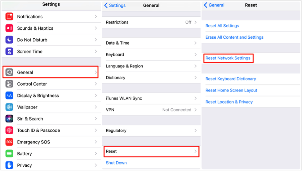 How to Fix: iMessage Not Working on iPad – Reset Network Settings