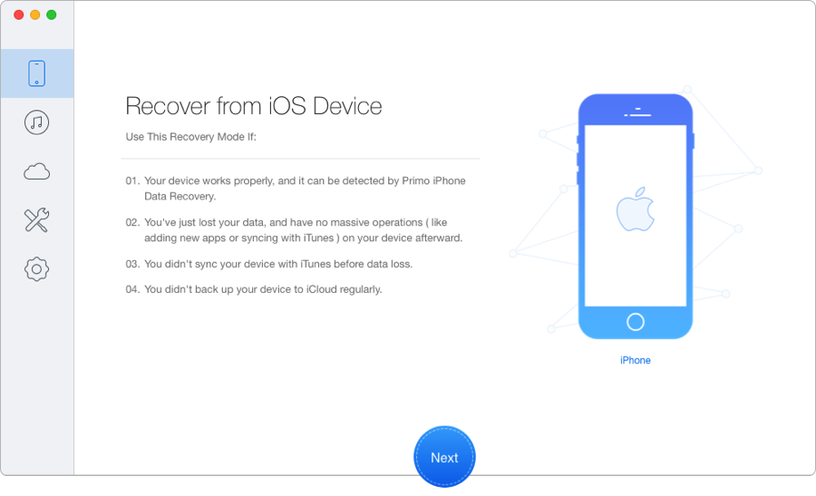 Best Messages/iMessage Recovery Software – Primo iPhone Data Recovery