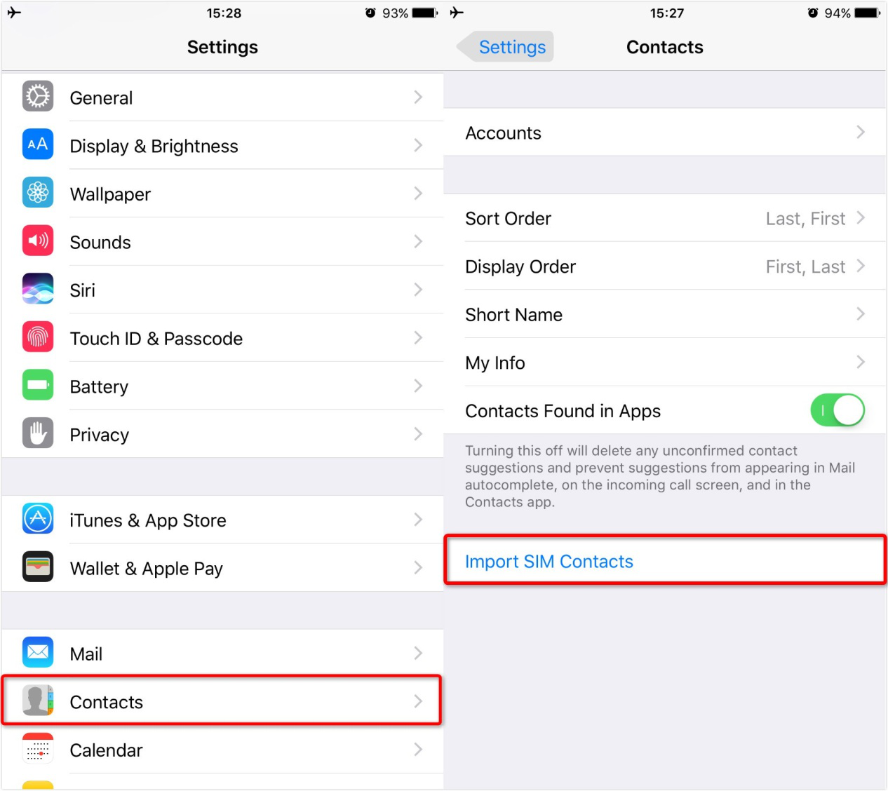 How to Import Contacts from SIM Card to iPhone - Step 2