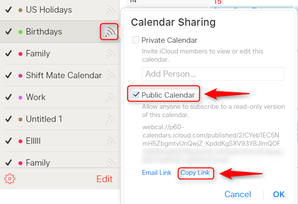 How to Add iCloud Calendar to Google - Step 2
