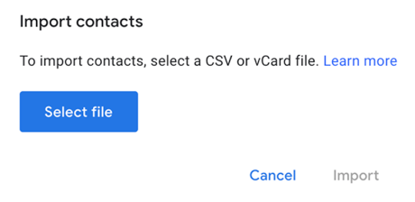 Import iCloud Contacts to Google Contacts