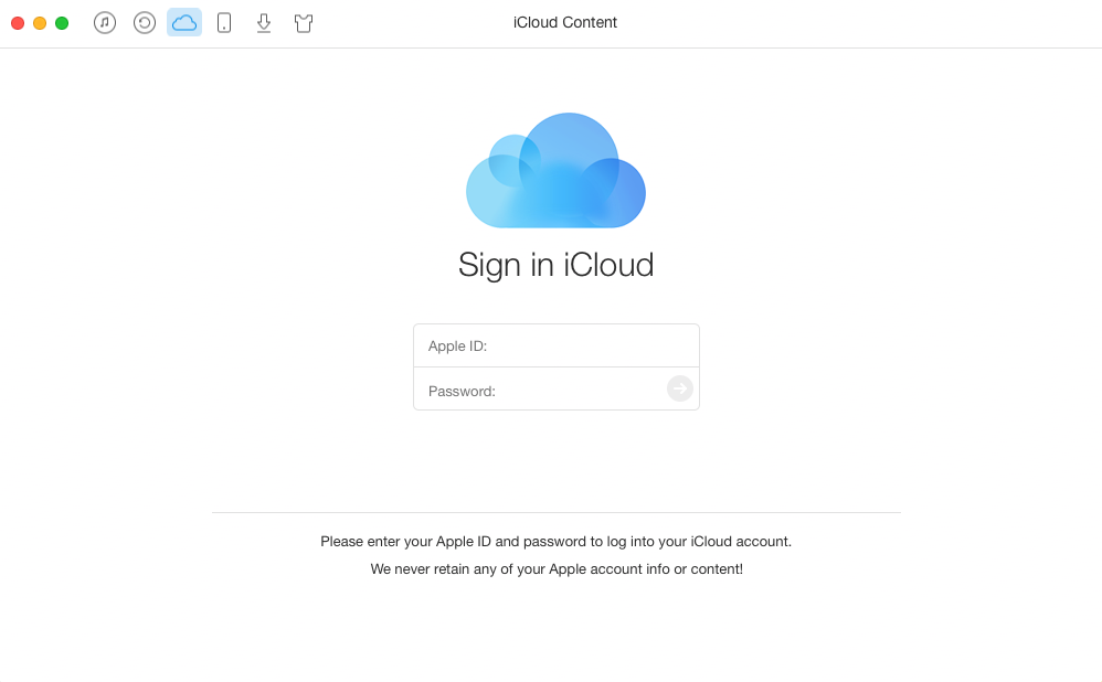 How to Export iCloud Contacts to Outlook with AnyTrans – Step 1