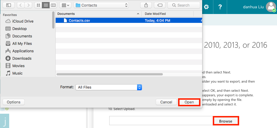 How to Import iCloud Contacts to Outlook – Step 3