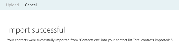 Successful Import iCloud Contacts to Outlook