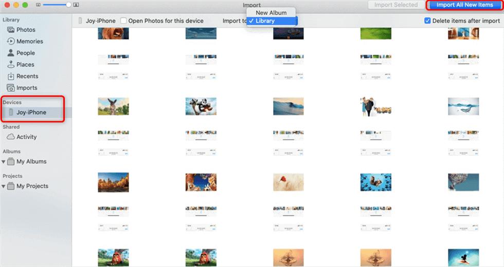 Import iPhone Photos with Mac Photos