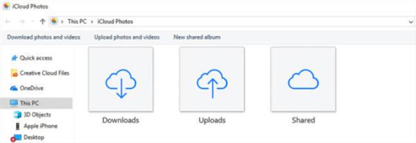 Transfer iPhone Photos to PC with iCloud Photos