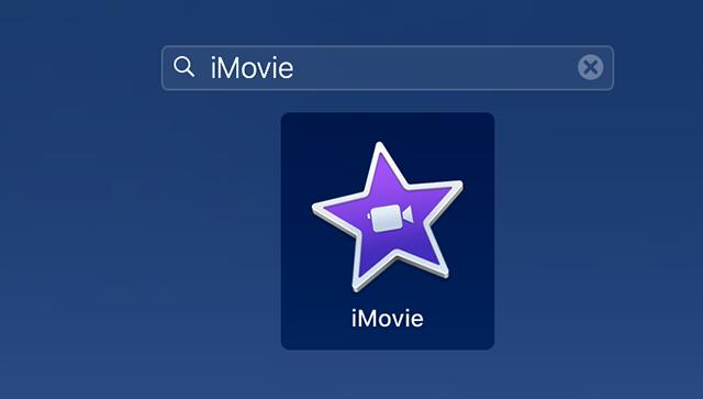 Access iMovie on Mac