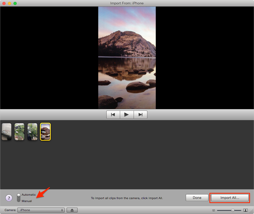 Import Videos from iPhone to iMovie on Mac – Step 2