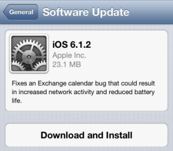 Download and Install iOS 6.1.2