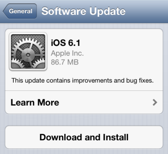 How to Install iOS 6.1