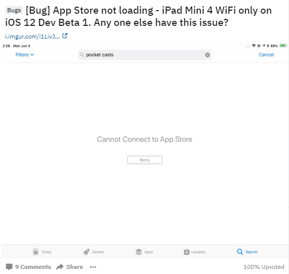 iOS 12 Issue: App Store Not Working