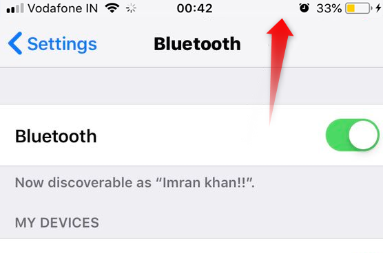 iOS 12/12.1 Bluetooth Icon Missing