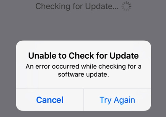 Unable to Check for Update of iOS 12/12.1 on iPhone iPad & iPod touch