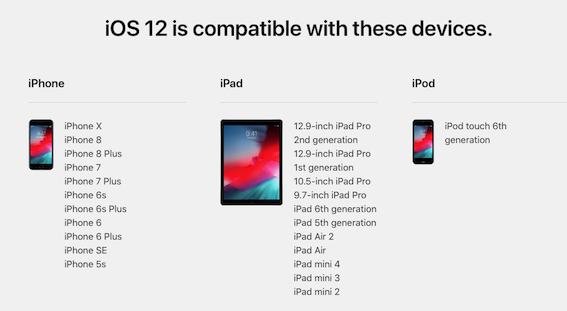 Fix Unable to Check for Update iOS 12 - Check Compatible Devices