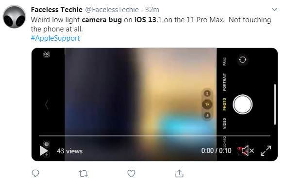 Camera issues in iOS 13.1