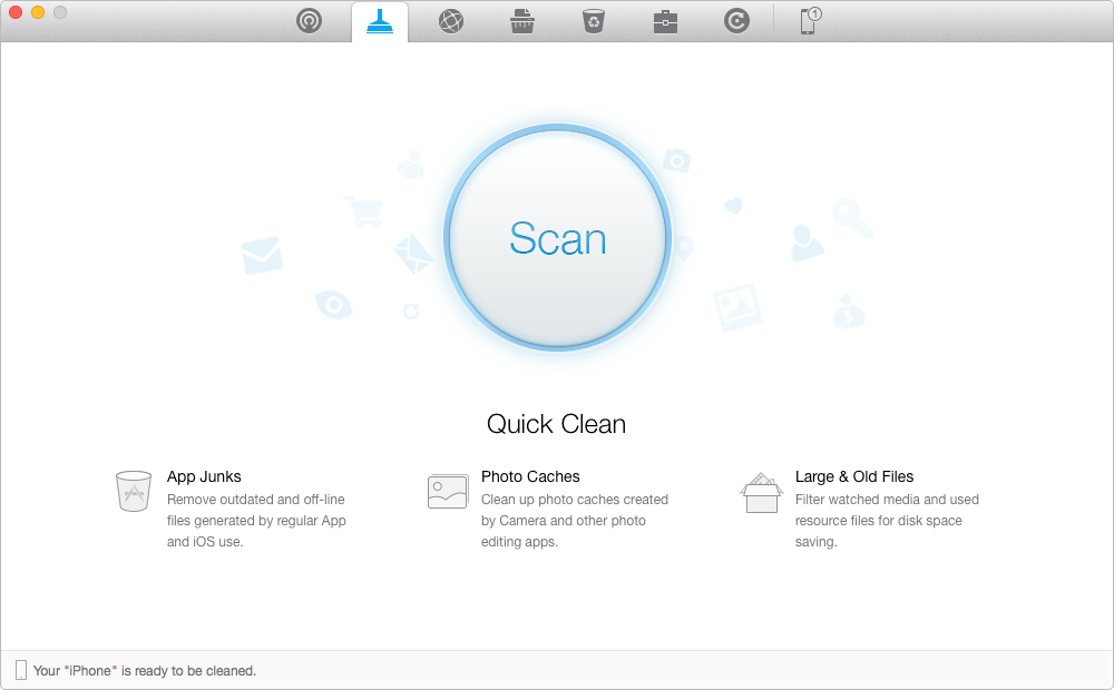 Remove the Cache and Other junk files with PhoneClean