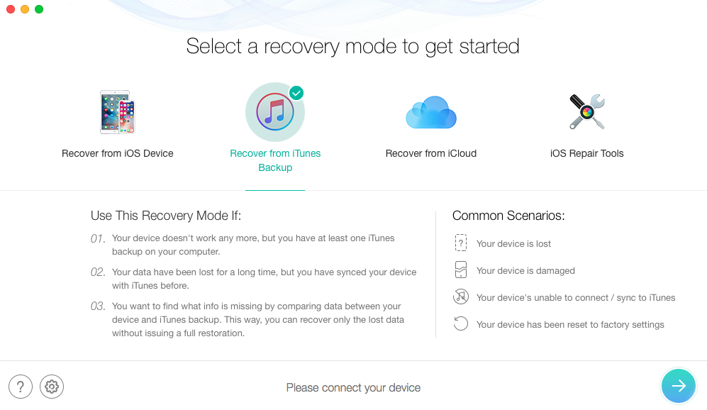 iPhone Backup Password Recovery on Mac & PC with a Free Tool - Step 1