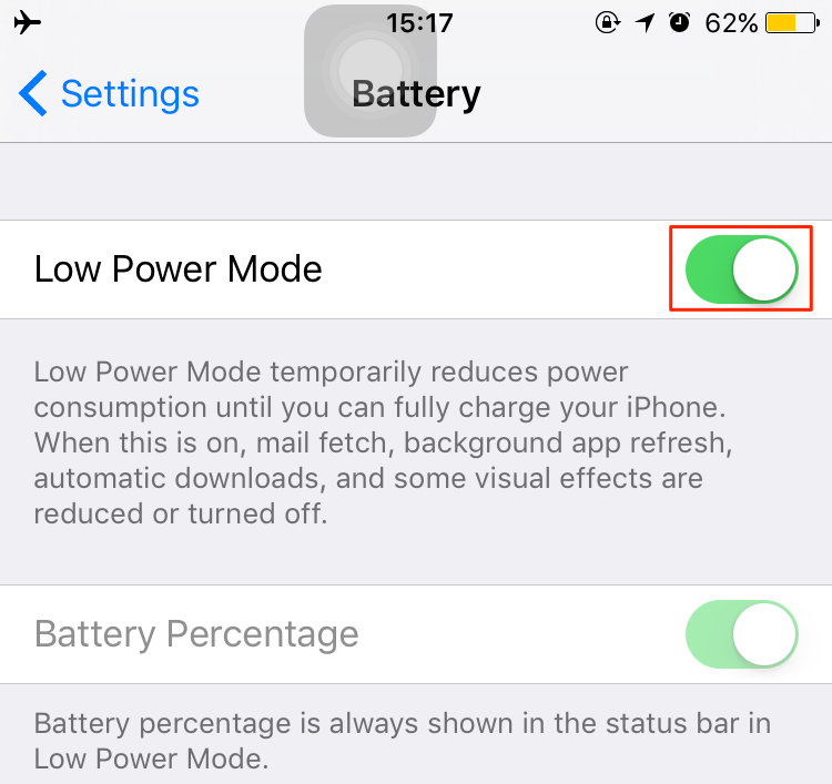 Enable Low Power Mode to Extend Battery on iPhone