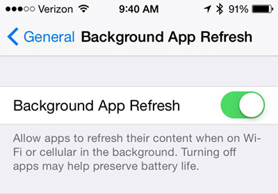 Close Background App Refresh