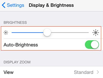 Adjust Brightness to Save Battery on iPhone iPad