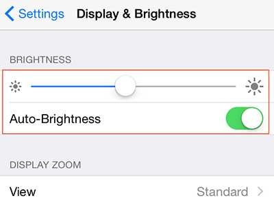 Adjust Brightness to Save Battery on iPhone iPad