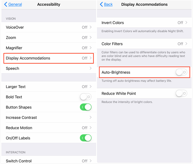 Fix iPhone Brightness Keeps Changing by Itself on iOS 11