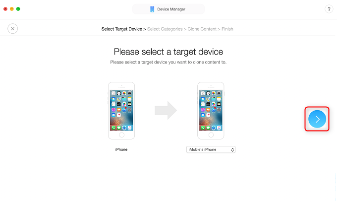 Transfer Data from Old iPhone to New iPhone 8/X – Step 2