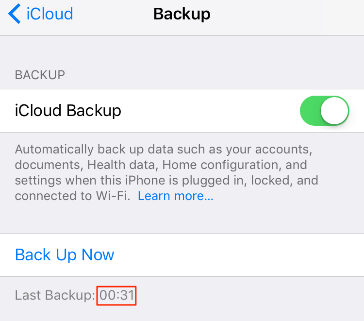 Fix iPhone Contacts Disappeared - Check Last iCloud Backup