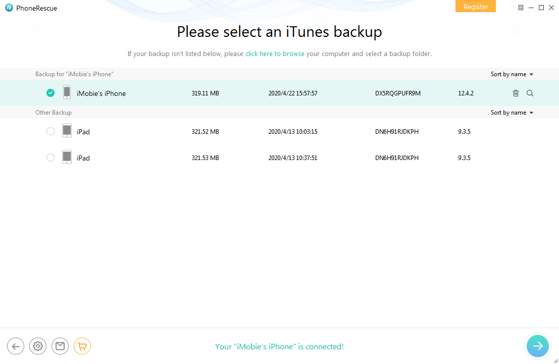 How to Get Backup Deleted Messages from iTunes Backup – Step 2