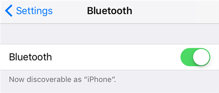 Turn Bluetooth OFF and Then Back ON