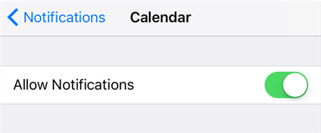 Turn on notifications on the iPhone