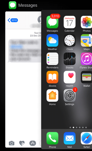 Close and Reopen the Messages App on Your iPhone