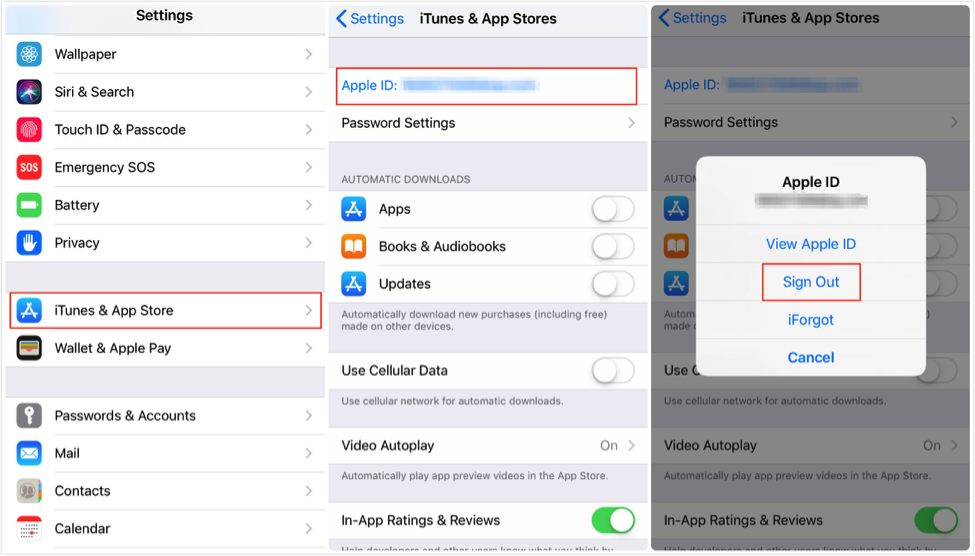 Fix: iPhone/iPad Cannot Connect to App Store – Log out Account