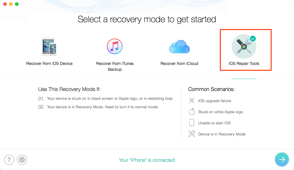 Fix iPhone Keeps Restarting Issue with PhoneRescue for iOS