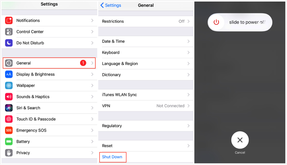 Fix iPhone/iPad Not Connecting to Wi-Fi – Restart Device