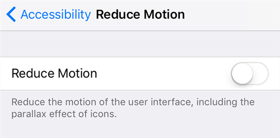 Disable Reduce Motion to fix keyboard issue on iPhone