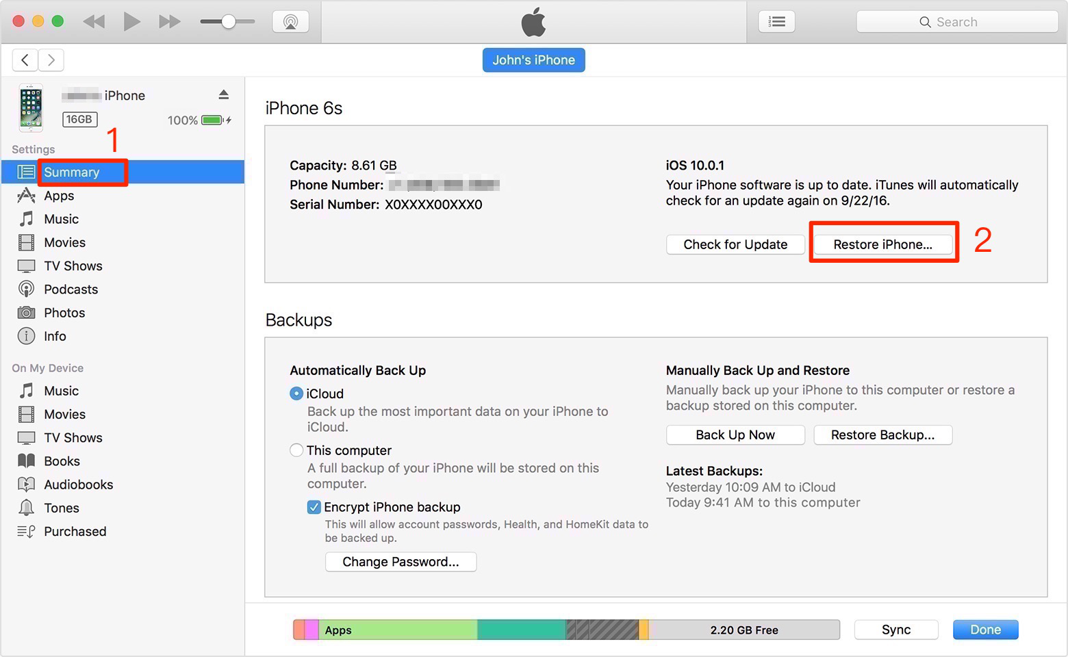 Fix iPhone/iPad Locked After Update Error with Recovery Mode – Step 2