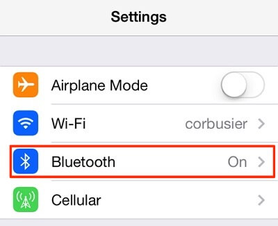 Fix iPhone Not Alerting Me of Texts - Toggle off Bluetooth on iPhone