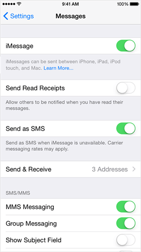 How to Fix iPhone Not Sending Texts to Android Phone via Check Device Settings