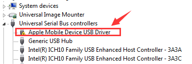 Fix iPhone not Showing Up in Windows Explorer via Change Active Driver - Step 1