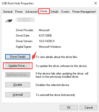 Fix iPhone not Showing Up in Windows Explorer via Change Active Driver - Step 2
