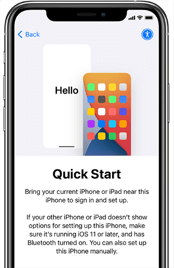 Move Messages from iPhone to iPhone via Quick Start