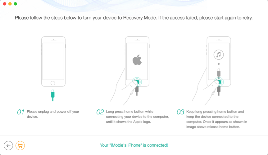 How to Reboot iPhone/iPad without Losing Data – Step 4